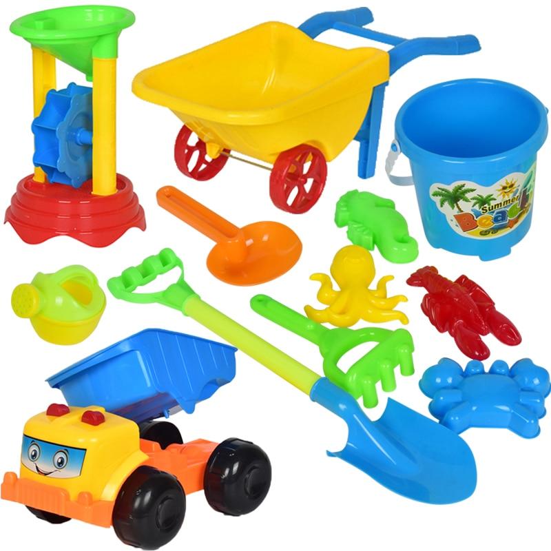 Baby Kids Beach Toys Set  Bath Ball Sand Bucket Beach Cart Toys For Children Water Table Juegos De Playa Children Toy CC50BT