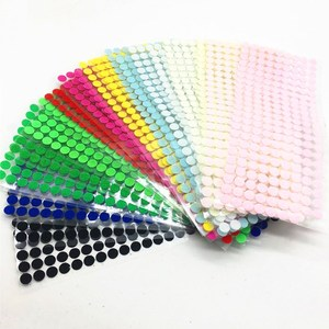 100pairs 10mm 15mm Strong Self Adhesive Fastener Tape Round Dots Magic Nylon Hook Loop Sticker Tape Sewing Craft DIY Accessories