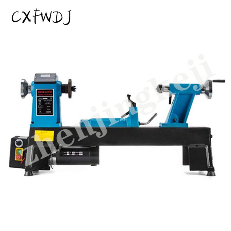 Small Woodworking Lathe DIY Family Digital Display 550W Stepless Speed Lathe Wood Rotary Lathe 220V/50HZ Speed Woodworking Lathe