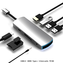 2020 Type-C Hub To RJ 45 HDMI Adapter 4K Thunderbolt 3 USB C Hub with Hub 3.0 TF SD Reader Slot PD for MacBook Pro/Air стоимость
