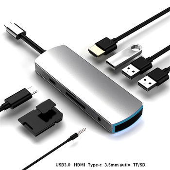 2020 Type-C Hub To RJ 45 HDMI Adapter 4K Thunderbolt 3 USB C Hub with Hub 3.0 TF SD Reader Slot PD for MacBook Pro/Air usb 3 1 type c hub 7 in 1 to hdmi adapter 4k thunderbolt 3 usb c hub with hub 3 0 tf sd reader slot pd for macbook pro air 2018