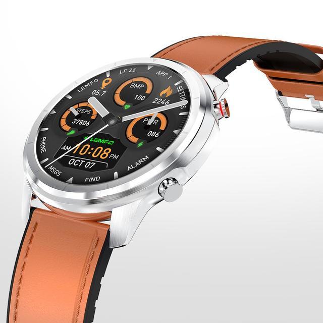 LEMFO LF26 Smart Watch Men Heart Rate Blood Pressure Oxygen Full Round HDTouch Screen 360*360 Weather Display Smartwatch 1