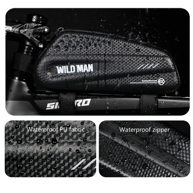 Details about  /Bicycle Cycling Bike Waterproof Hard Shell Front Beam Upper Tube Bag 5 Colors
