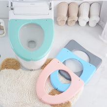 Portable Toilet Seat Cover Creative Foldable Practical Reusable Convenient Storage Healthy Travel Cleaning Bathroom Pads
