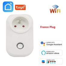 Perancis Wifi Smart Socket FR Plug Power Monitor Nirkabel Outlet Kontrol Suara Smart Waktu untuk Alexa Google Home Ifttt Gratis kapal(China)