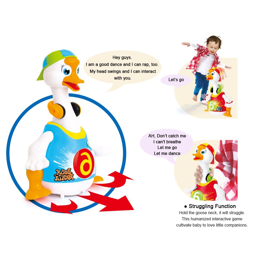 HOLA 828 Hip Hop danse marche balançoire oie Musical cadeau éducatif jouet pour 1 an tout-petits apprentissage jouets éducatifs cadeau - 4