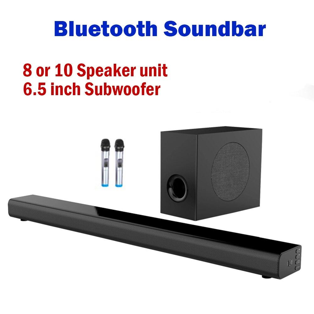 L7 L5 Bluetooth Soundbar wall pure wood speaker sound bar home theater Subwoofer Bluetooth 3D surround sound 10 horn Integrate