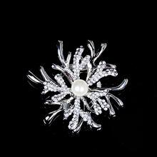 Рождественские ювелирные украшения броши для женщин серебро