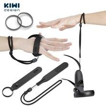 Diseño de KIWI actualizado empuñaduras correa para nudillos con anillos de caucho reemplazables para Oculus Quest/Oculus Rift S, accesorio para controlador táctil