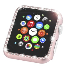 Bling  Metal Diamond Bumper Protective Case for Apple Watch Cover Series 5 4 3 2 1 38MM 42MM Cases For Iwatch 40mm 44mm