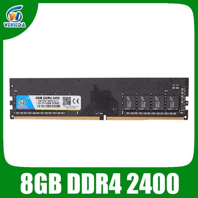 Оперативная память для настольных ПК VEINEDA DDR4 8 Гб оперативная память dimm ddr 4 2133 для Intel AMD mobo PC4-17000 284pin