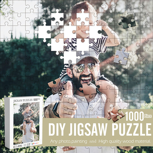 1000 Pieces Wood Jigsaw Puzzle DIY Customize Adults Indoor Relaxing Puzzle Family Game Growup Jigsaw Educational Toys Gift