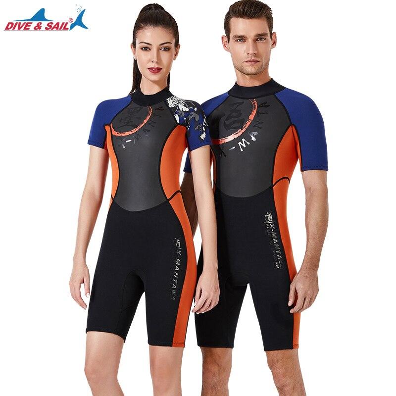 Combinaisons adultes jeunesse Premium néoprène combinaison de plongée 3mm Shorty combinaison pour hommes femmes surf natation plongée en apnée combinaison de plongée
