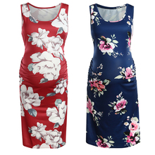 Wholesale Maternity Dresses Pregnancy Clothes Floral Style R