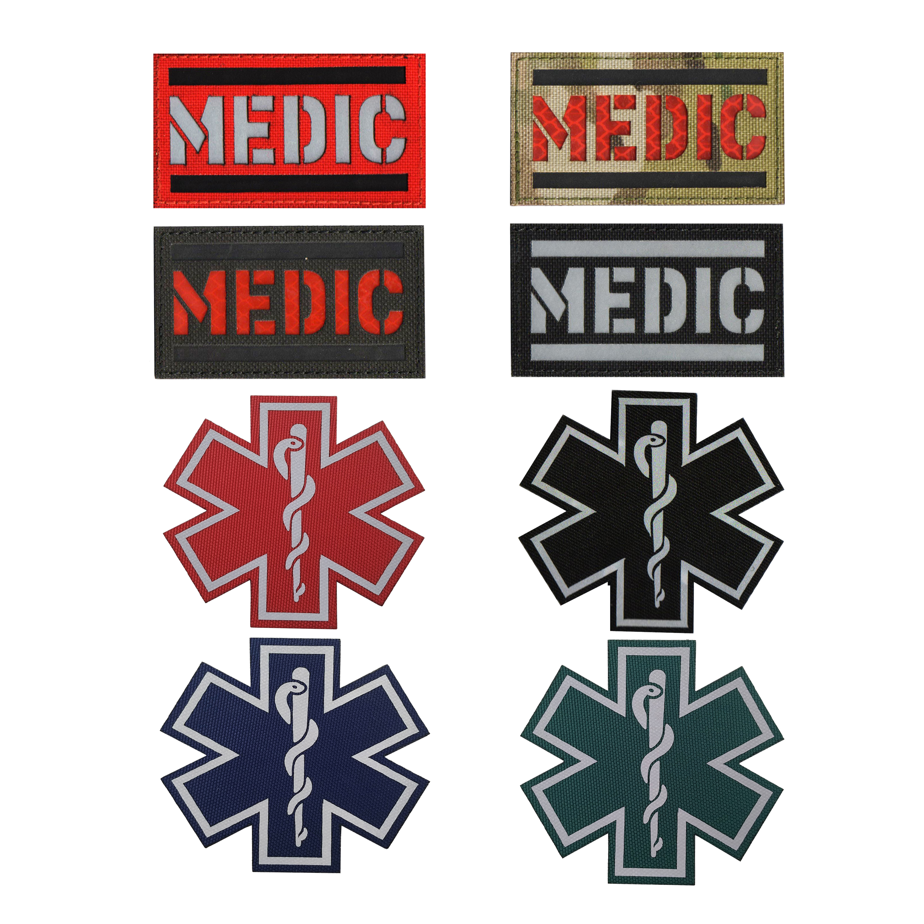 USA America Flag Star of Life EMS EMT Paramedic Medic MED Tactical Morale PVC Rubber Touch Fastener