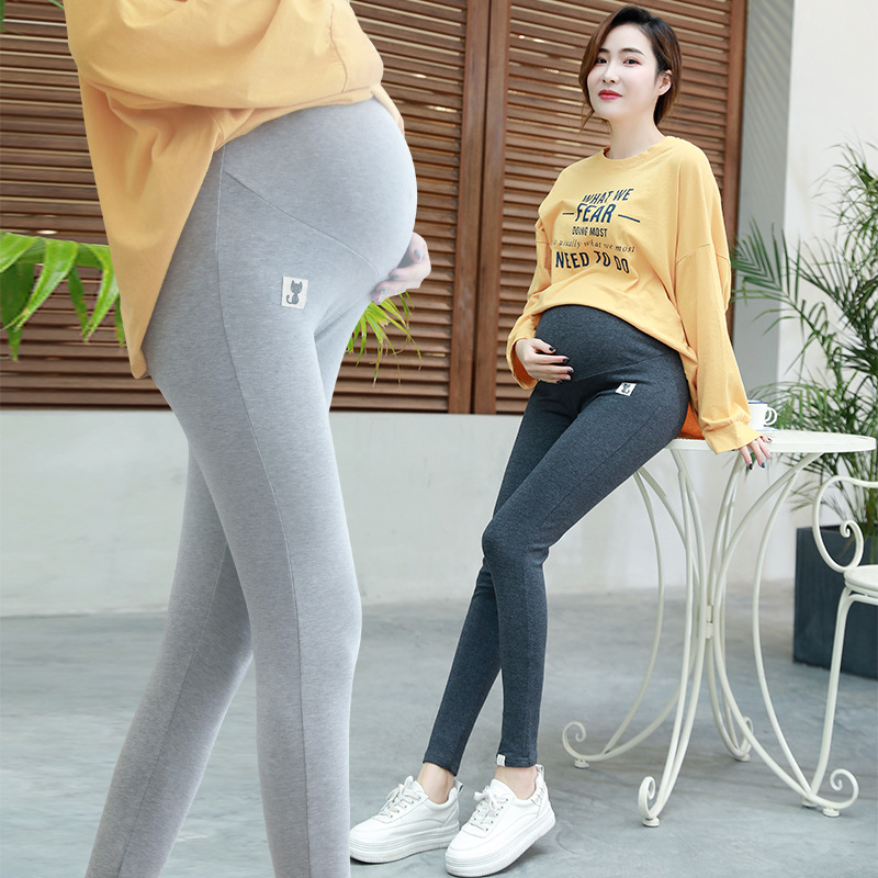 Maternity Clothes Spring And Autumn Pregnant Women Pants Pregnant Women Capri Abdominal Support Leggings 200 Plus-sized Pregnant