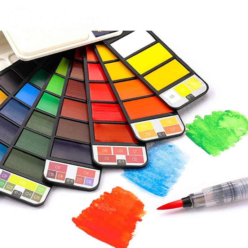 Juego de pintura de acuarela sólida Superior para Acuarelas y paleta Farby Akwarelowe pigmento de acuarela portátil para Aquarelle Peinture