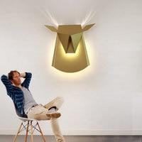 Post Modern Led Lamp Wall Sconce Nordic Living Room Bed Bathroom Mirror Light Fixture Home Decor Lighting Gold Metal Lustre