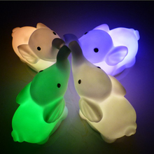 1pcs Cute LED Night Light Lamp Mini Elephant Shape Colorful Emergency Lamp For Wedding Party Bedroom Living Room Decoration cheap oobest Atmosphere Animal CN(Origin) Fluorescent Switch 220V none HOLIDAY 0-5W
