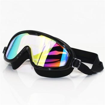 Big frame Professional Swimming Waterproof soft silicone glasses swim Eyewear Anti-Fog UV men women goggles for men women 1