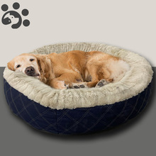Dog-Beds Sofa Large Dogs Calming Fluffy Big-Dog Hot for Cotton 75cm-Diameter