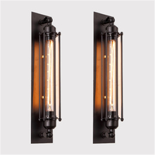 Retro Punk Loft  Wall Light Aisle Bedroom Bedside Light Bar Wall Lamps E27 Edison Light Free Shipping american country retro decoration livingroom wall lamp art matal loft light pub light aisle light cafe light free shipping