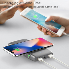 Wireless Power Bank 10000mAh Portable Charger Powerbank Charging PowerBank for xiaomi iphone Smart Mobile Phone