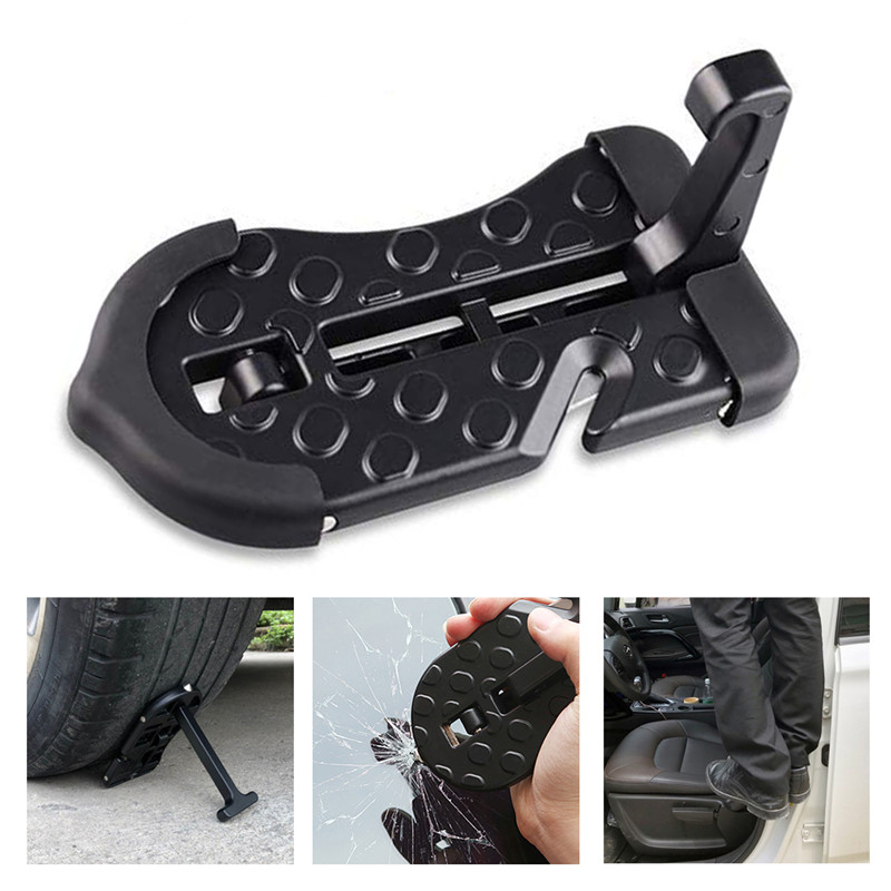 1PC Aluminum Door Step Multi-Purpose Hooks Portable Easy Access To Rooftop Foldable Ladder Vehicle Foot Pedal Droppingship