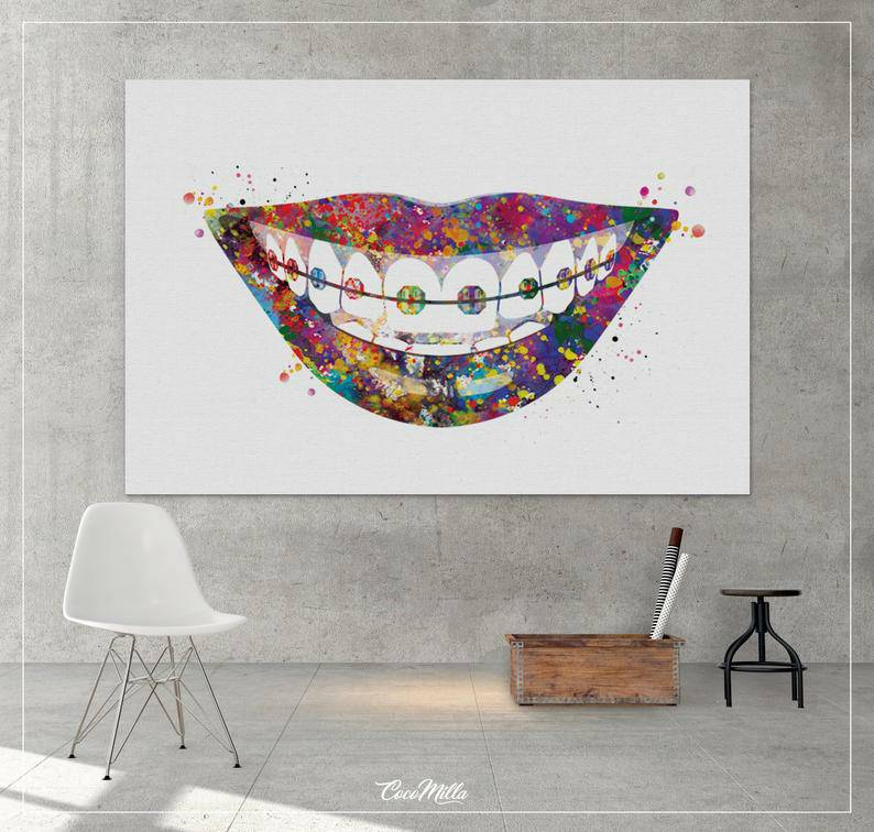 New Abstract Sexy Woman Mouth Wall Picture Oil Painting On Canvas Wall Art Hangings Paintings Artwork For Home Living Room Decor