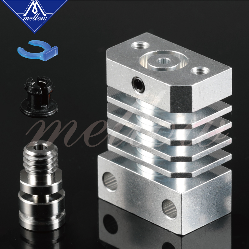 Newest Mellow Super Smooth Cr10 All Metal Titanium Heat Break Hotend Kit For Cr-10 Ender 3 Heatsink 3D Printers Micro Swiss