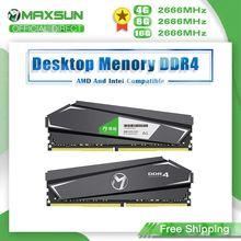 MAXSUN Ram DDR4 4GB 8GB 16GB bellek 2666MHz tek x2 ömür boyu garanti Ram DDR4 1.2V 288Pin arabirim tipi masaüstü dimm