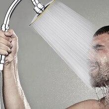 360 Вращающаяся душевая головка для ванной комнаты Замена высокого давления ручной 6 дюймовый разбрызгиватель портативный Душ