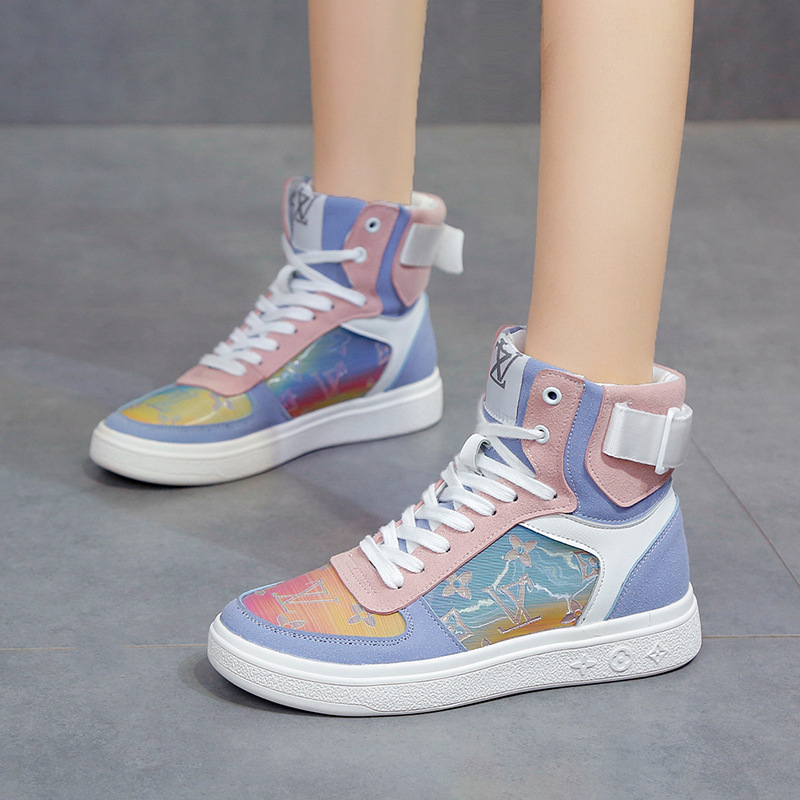 Women's Sports Shoes Autumn And Winter Student Personality Hip-Hop Sports Shoes Fashion All-match High-top Shoes Women's Shoes