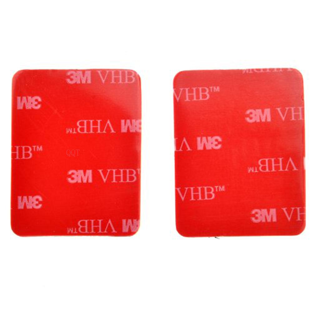GloryStar 30 Pcs 3 M Red Adhesive Sticker Double Adhesive Tape Affected For Go pro Hero 9 6 5 4 3 + for SJ4000 for Xiaomi for Yi
