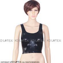 Black Sexy Latex Crop Top Rubber Bra Lingerie Brassieres Plus Size BRA-0007