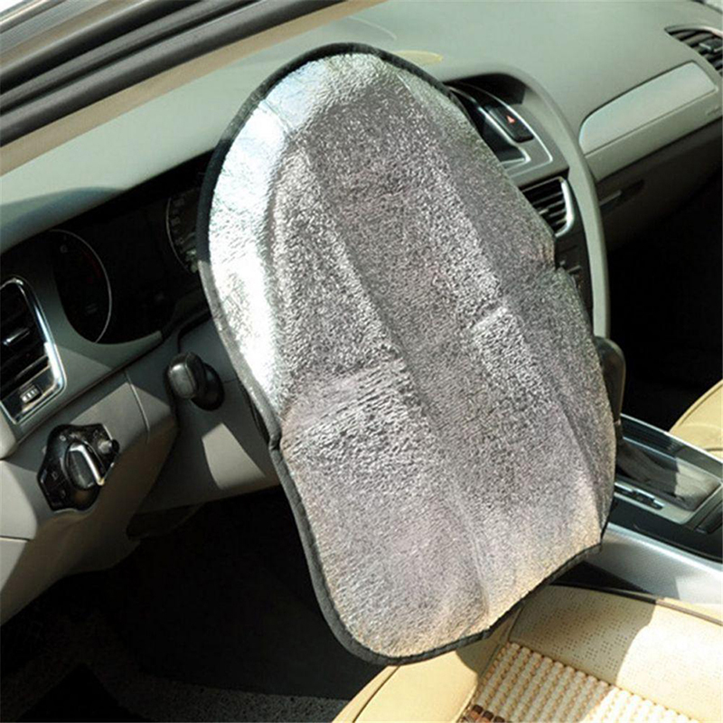 Double Thicken Car Steering Wheel cover Sun Shade Cover Sunshade Aluminum Foil Anti Accessories Automotive interior products