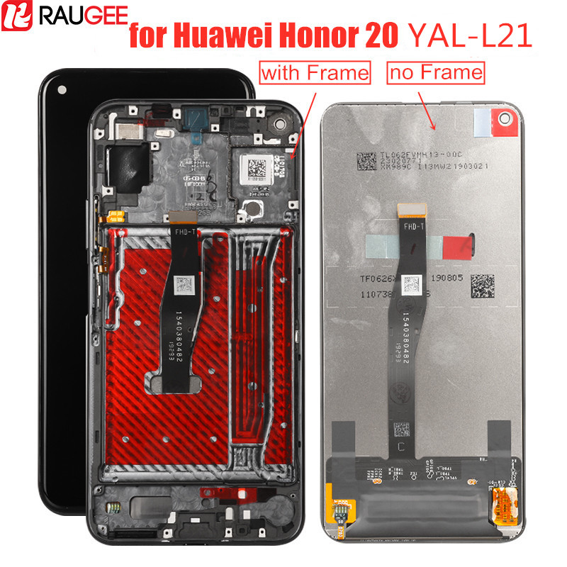LCD Display for Honor 20 YAL-L21 LCD&Touch Screen with Frame Replacement Digitizer Display Screen for Huawei Honor 20 LCD Screen