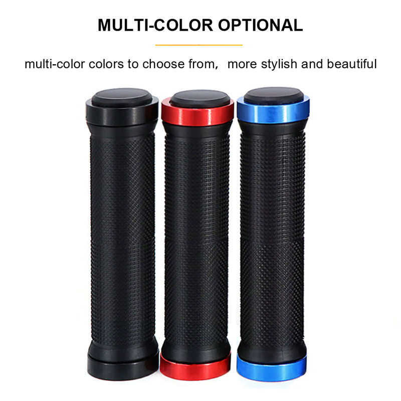 Anti-Skid Rubber Bicycle Grips Aluminum Alloy MTB BMX Durable Bike Handle Bars End Grips Mountain Road Cycling Handlebar Grips