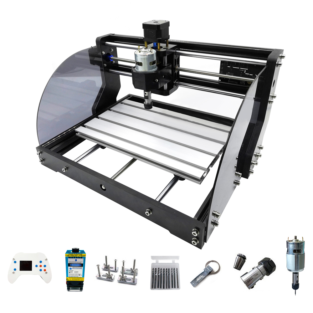 New 3018 Pro Max Laser Engraver DIY 3 Axis PCB Milling CNC Laser Engraving Machine Wood Routers With Offline Controller 0.5W-15W