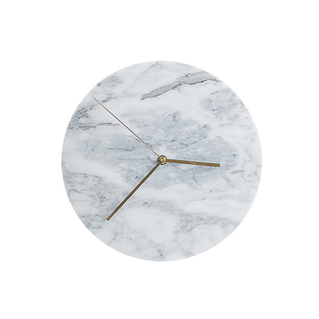 Nordic Luxury Wall Clock Modern Design Silent Quartz Creative Wall Clock Bedroom Marble Montre Murale Home Decoration ZB50WC
