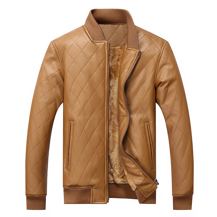 Winter Men's Leather Jackets Thermal Thick PU Coat Male Fleece Jacket Motorcycle Outwear Mens Brand Clothing J6T559