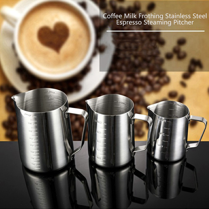 Hot 350/550/900ml Stainless Steel Milk Frothing Jug Espresso Coffee Pitcher Craft Coffee Latte Milk Frothing Jug Pitcher