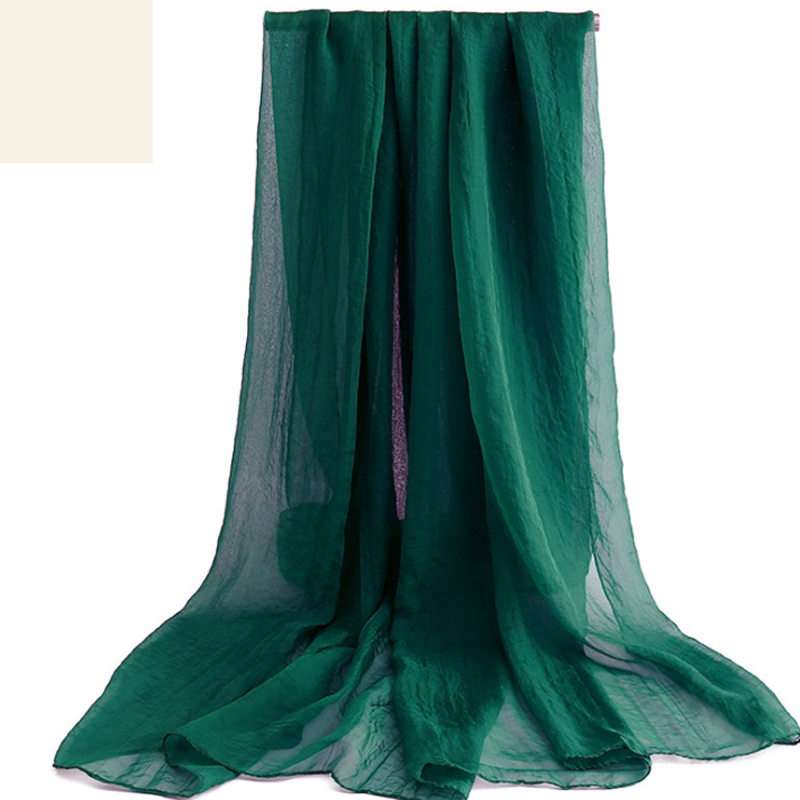 Long Satin <font><b>Silk</b></font> <font><b>Scarf</b></font> Summer Ladies Green <font><b>Scarf</b></font> Shawl Top Grade Brand <font><b>Scarves</b></font> Simple Plain Chiffon Head <font><b>Scarf</b></font> 170*<font><b>70cm</b></font> image