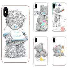 Soft TPU Coque Case Lovely Teddy Bear Mobile For Xiaomi Mi note 9 10 mi10 mi9 mi8 pro lite SE Mi A1 A2 A3 CC9 CC9E 9T(China)