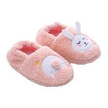 Shoes Kids Indoor Slippers Soft-Soled Rabbit Girls Baby Cotton Cartoon Children Warm