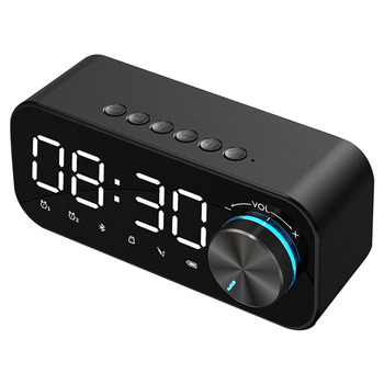Budzik głośnik LED na Bluetooth cyfrowy Alarm z wyświetlaczem Radio z budzikiem LED bezprzewodowa karta TF Subwoofer odtwarzacz muzyczny zegar tanie i dobre opinie CN (pochodzenie) Zegarki z alarmem Z tworzywa sztucznego DIGITAL Bluetooth Alarm Clock Speaker Table Clock SQUARE digital clock