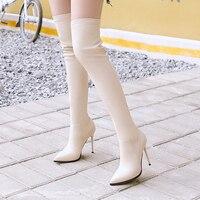 Пикантные высокие сапоги; женские ботфорты на высоком каблуке; женская пикантная модная шерстяная обувь в стиле пэчворк; два способа ношени...