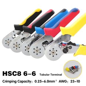 Image 1 - Pince à sertir pour câble couleurs, hsc8 6 6 6 4, pince à sertir coupe fil, outils à sertir pour câble