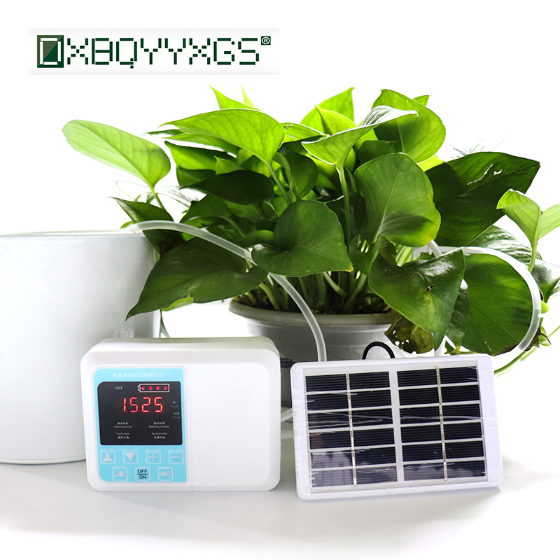 Solar charging Garden Intelligent Drip irrigation system Double water pump Home Potted plant Automatic Timer watering device