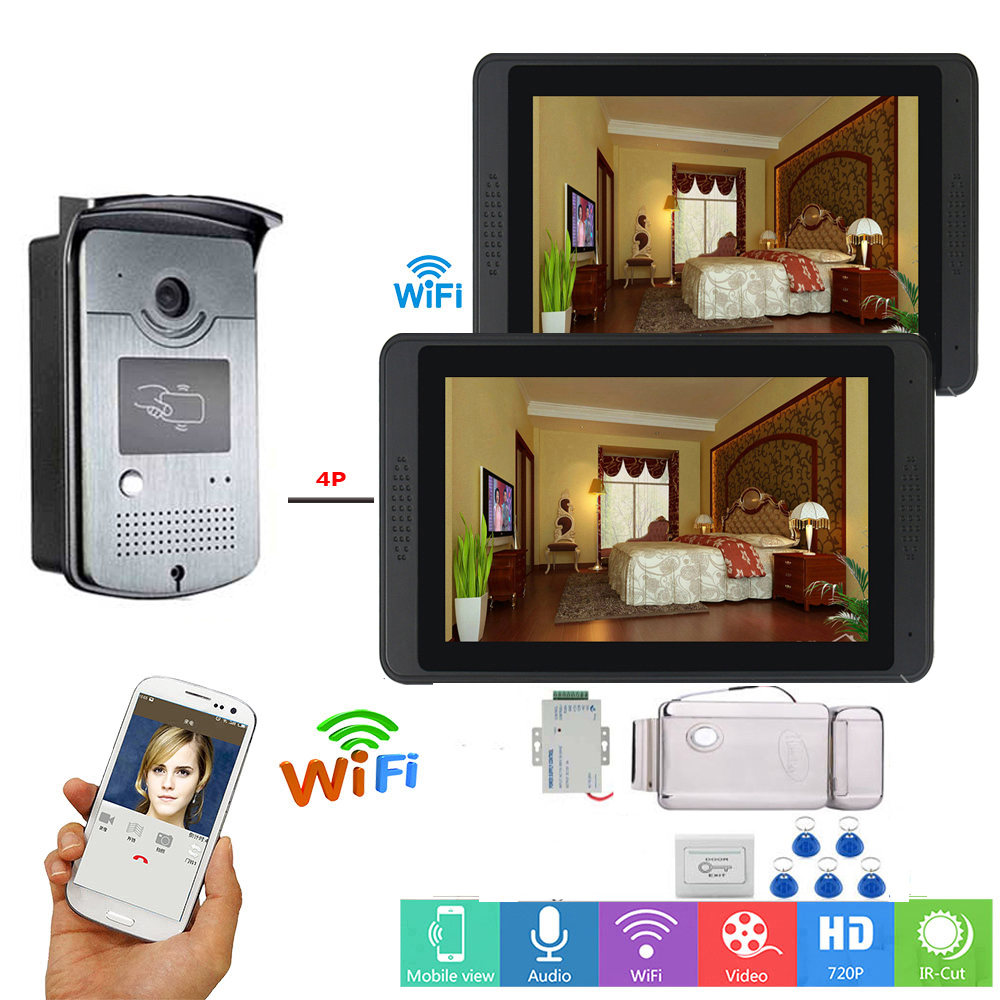 7inch Wired Wifi Video Intercom With Lock Home Door Lock Intercom System Support For Recording Video